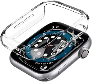 Spigen Thin Fit Designed for Apple Watch Case for 44mm Series 6/SE/5/4 - Crystal Clear