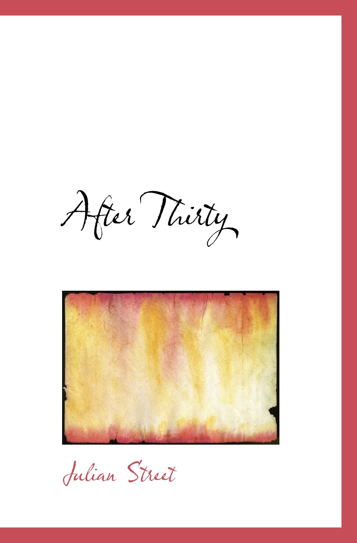 Download After Thirty pdf