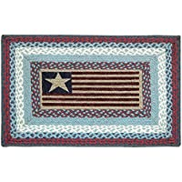 Earth Rugs PP-Flag Print Rug, 20 x 30, Blue/Burgundy