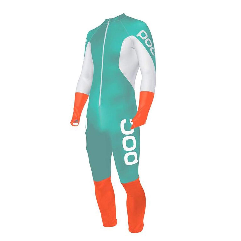 POC Skin GS Jr Mono per Competizione, Unisex Bambini, Tin Blue/Hydrogen White, L PC5014282351501