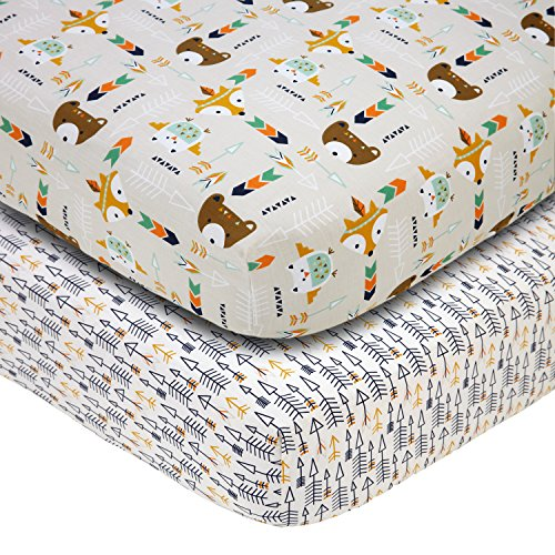 - Little Love by NoJo Aztec - 2 Count Crib Sheet Set
