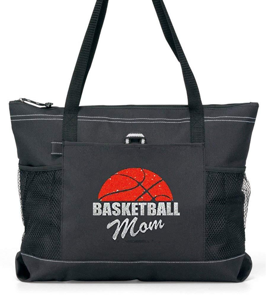 Basketball Mom Tote with a Half Basketball