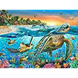 5D DIY Diamond Painting Set Full Drill Arts Crafts Wall Stickers For Living Room (Sea Turtles)