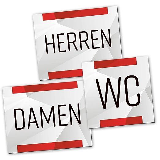 Logbuch-Verlag Set de 3 Carteles de WC para señoras y ...