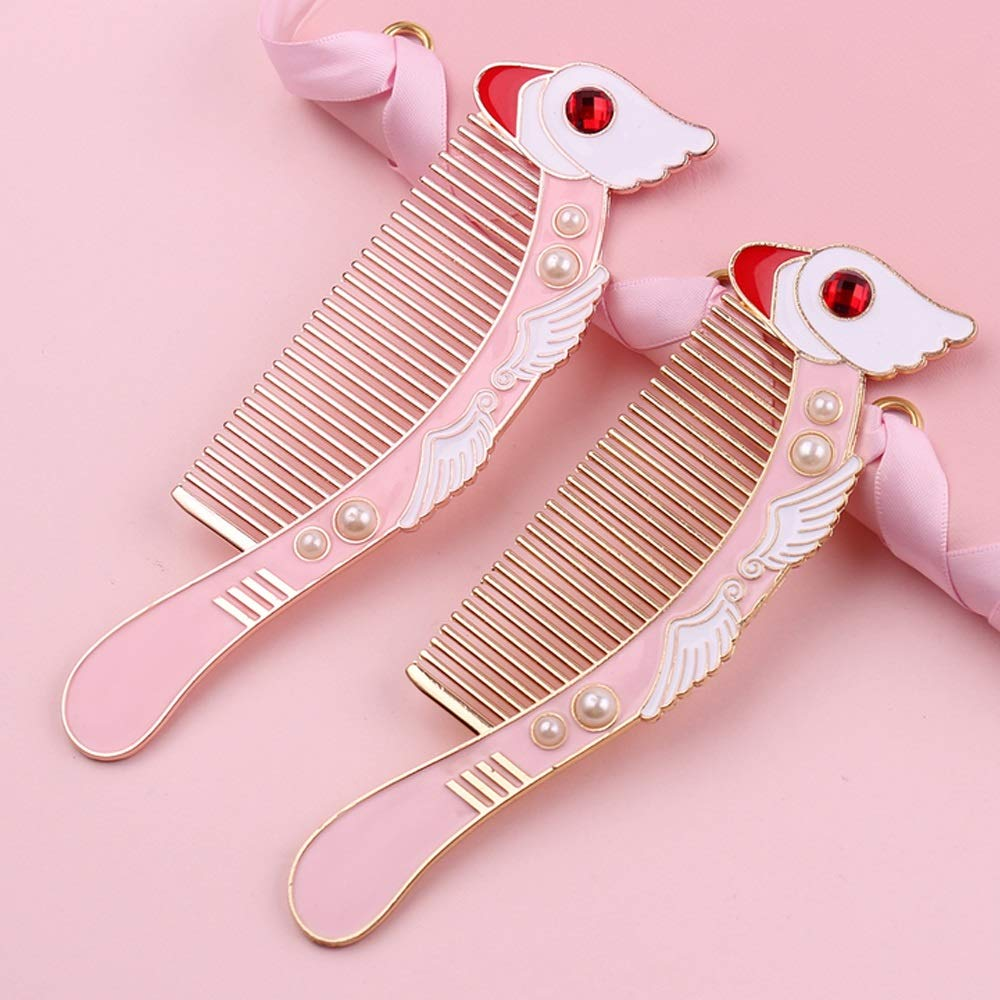 Comb, Girl Combing Cute Hairy Hair Comb, Small Cherry Comb, Small Cherry Bird Long Comb (Color : Small cherry bird long comb) by MINGSHENGWANGLUO