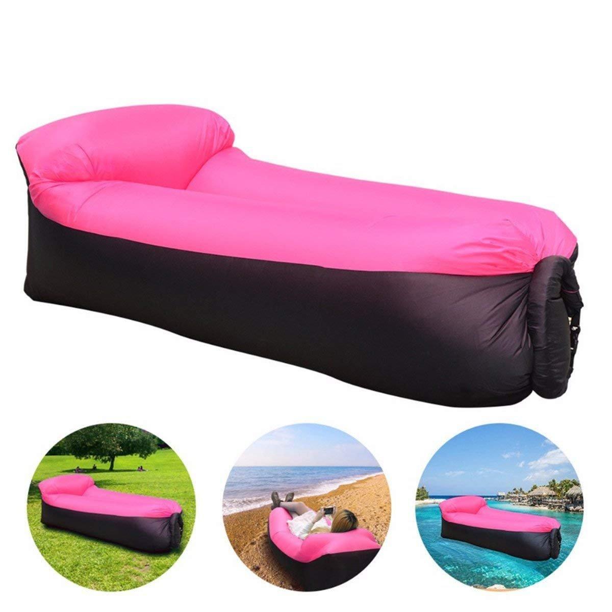 DAOXU 210T Sofa Inflable, portátil Impermeable Ligero poliéster Aire sofá Inflable ocioso, Aire Cama Tumbona de Playa para Viajes, Piscina, Camping, Parque, ...