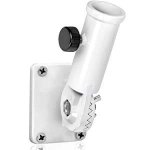 "Anley Multi-Position Flag Pole Mounting Bracket with Hardwares - Made of Aluminum - Strong and Rust Free - 1"" Diameter"