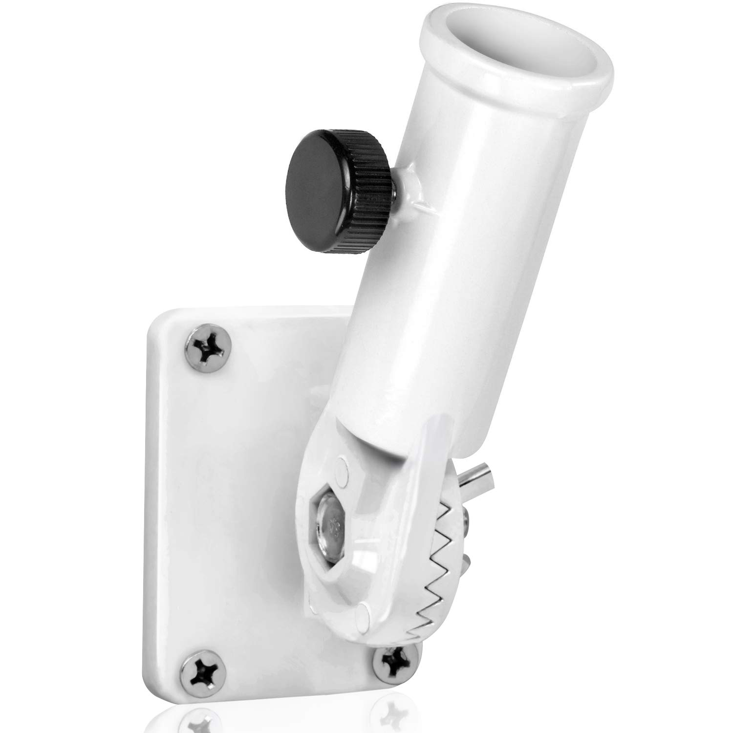 Anley Multi-Position Flag Pole Mounting Bracket with Hardwares - Made of Aluminum - Strong and Rust Free - 1'' Diameter