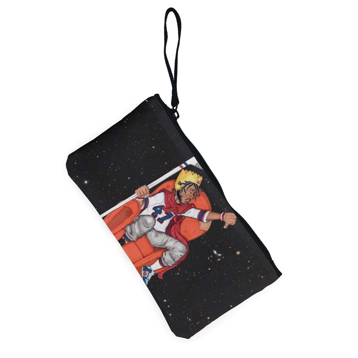 Thomas C Gaona Capital Steez Ladies Classic Coin Purse Zipper Pouch Wallet Canvas Clutch Wristlet Cellphone Bag with Handle for