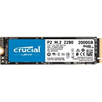 Crucial P2 2TB 3D NAND NVMe PCIe M.2 SSD Up to 2400MB/s - CT2000P2SSD8