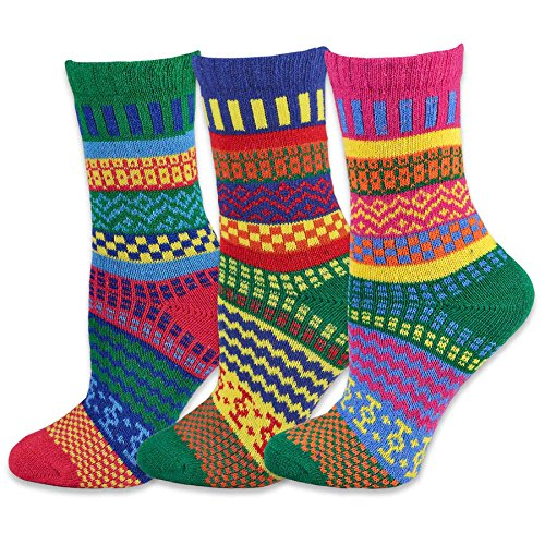 Teeheesocks Winter Crew Fun Socks for Women 3 Pairs
