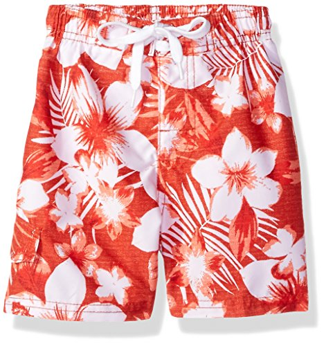 Bathing Suits Boardshorts - Kanu Surf Little Boys' Line Up Quick Dry Beach Swim Trunk, Dominica Red, Large (7)