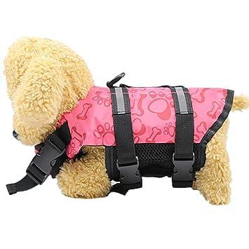 Zolimx® Chaleco Salvavidas para Mascotas, Productos para Mascotas Chaqueta de Vida de Perrito Ajustable hacia Fuera con Mango de Rescate: Amazon.es: ...