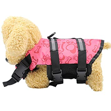 Zolimx® Chaleco Salvavidas Para Mascotas, Productos Para Mascotas Chaqueta de Vida de Perrito Ajustable