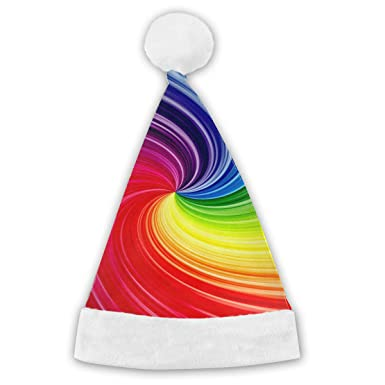 0d557b6f256cc Amazon.com  Spiral Colorful Christmas Hat Unique Santa Claus Happy Hats  Headwear Holiday Decoration Xmas Gift for Children