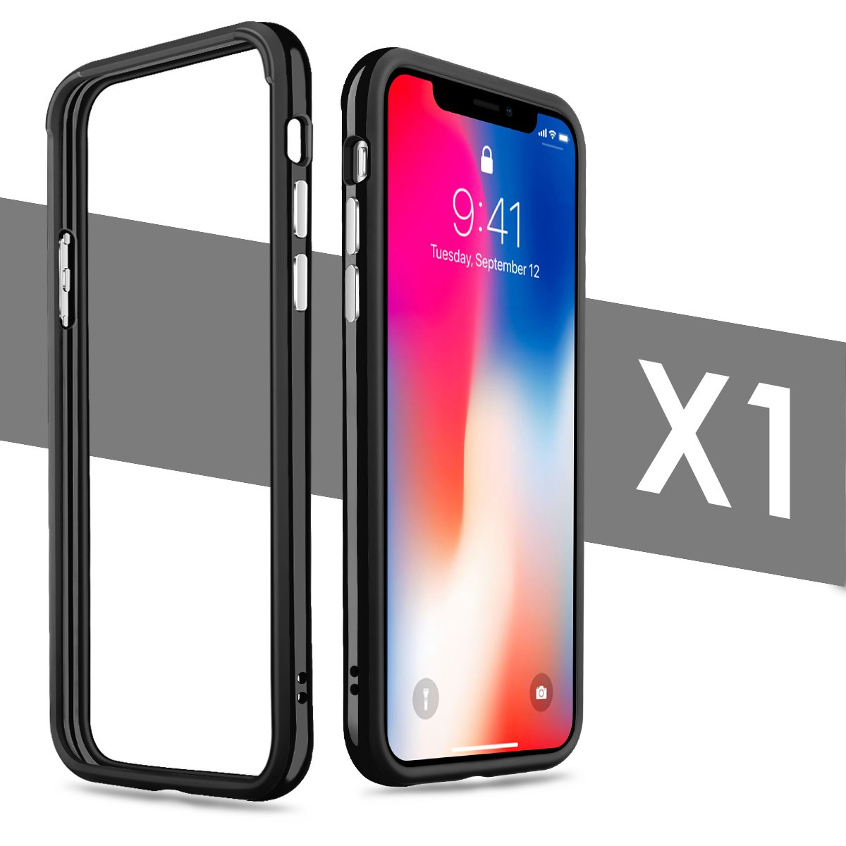 best service 8949b 040ff iPhone X Case, iPhone 10 Case, Yometome TPU Hybrid Shockproof Anti-Scratch  Finish Slim Thin Bumper Case for Apple iPhone X/10 (5.8 inches) Black for  ...
