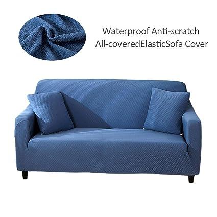 Sofá Cover Tapa de sofá Sofá Cubierta Protector para sofás Funda Cubre Sofá Sofá a prueba de agua sofá cojín Funda de sofá grueso color sólido sofá ...
