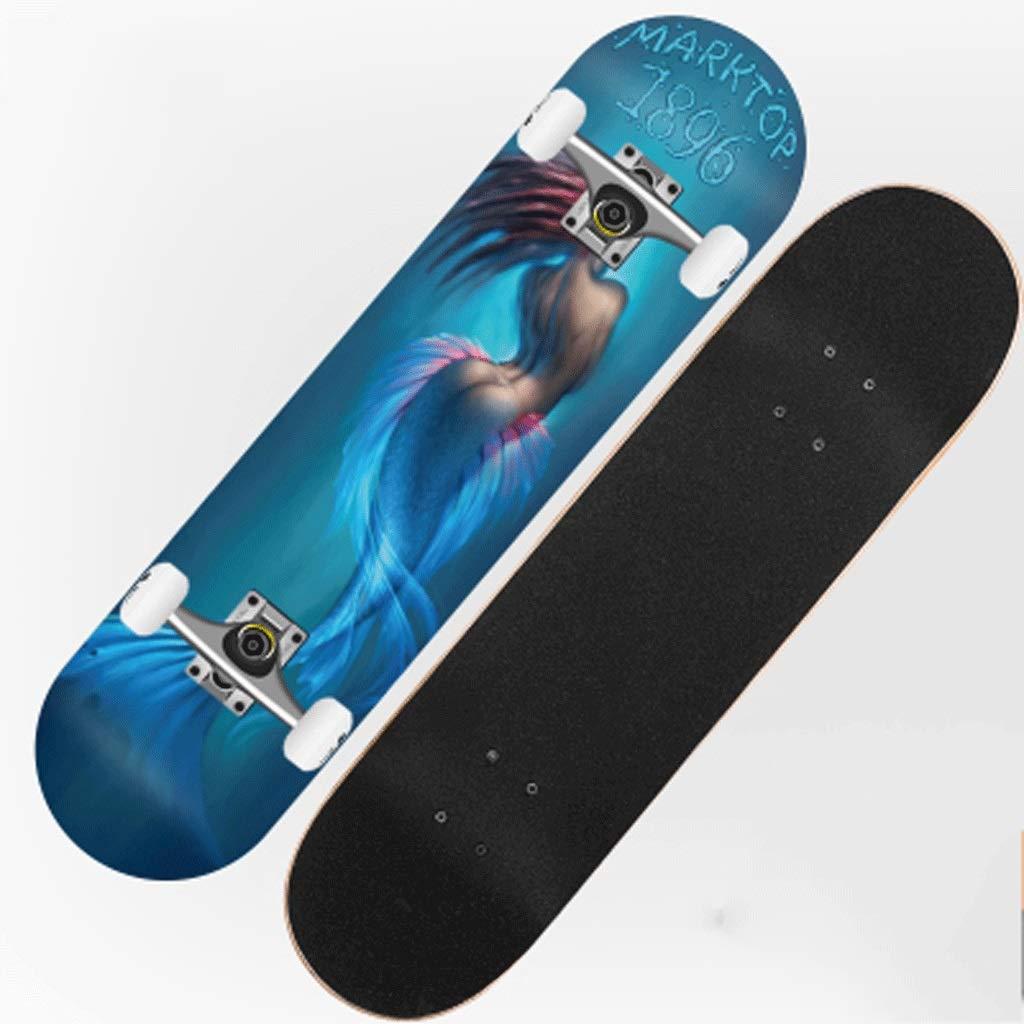 【お取り寄せ】 旅行スケートボードストリートスキル4輪ダブルスケートボード初心者子供男性世代の女の子 (色 : Mermaid Halloween) B07KXPZPXC B07KXPZPXC Mermaid (色 Mermaid, 竹田本社 お菓子の城:d01aa42d --- a0267596.xsph.ru