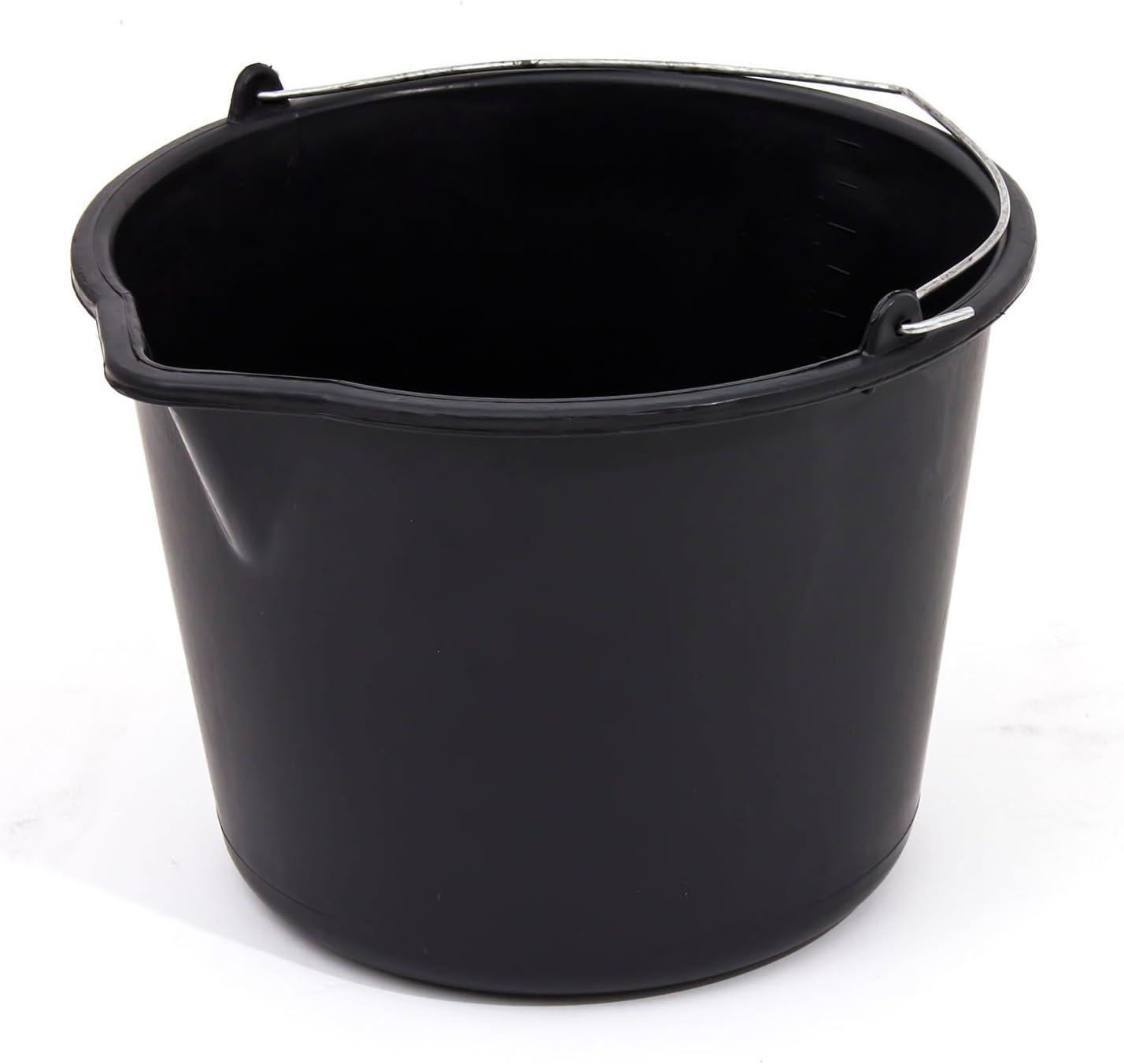 Seau a bec en plastique noir recipients de melanger 20 L