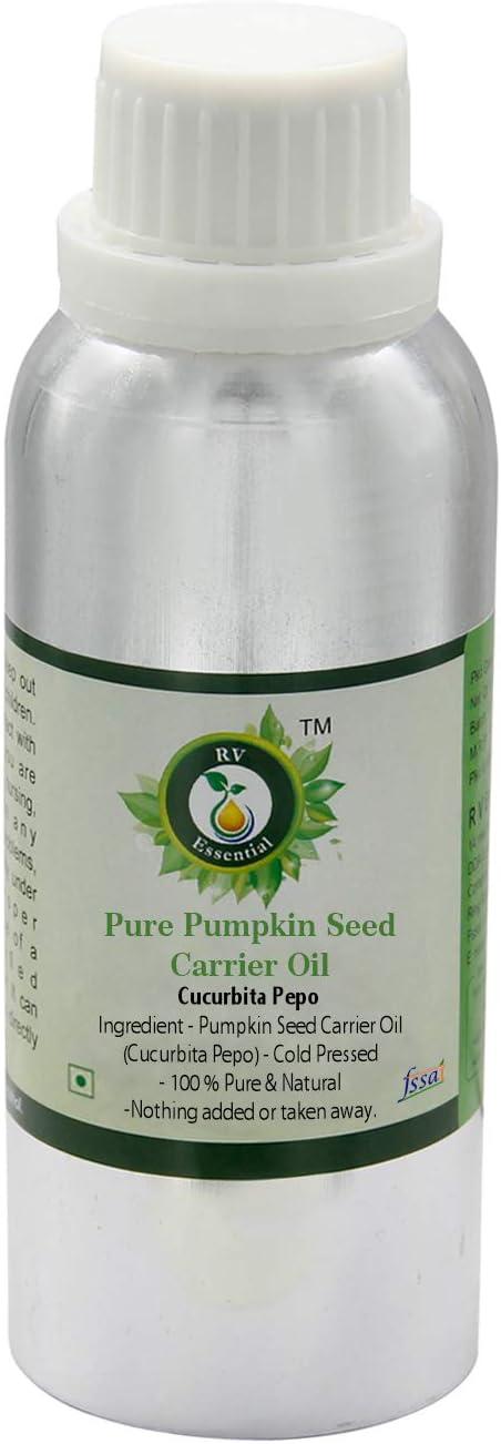 Aceite de semilla de calabaza   Cucurbita pepo   Para pelo   Sin refinar   Para rostro   Para cocinar   100% natural puro   Prensado en frío   Pumpkin Seed Oil  630ml   21oz By R V Essential