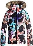 Roxy Big Girls' American Pie Snow Jacket, True Black_Mountain Typo, 14/XL
