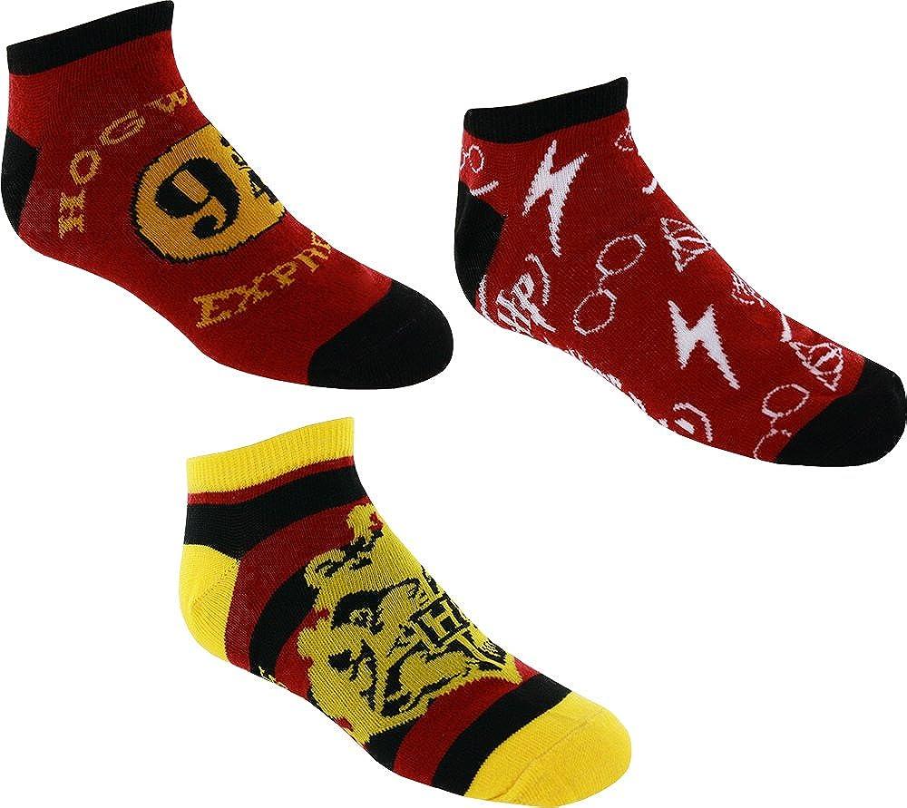 Harry Potter Ankle Socks 3 Pack BioWorld