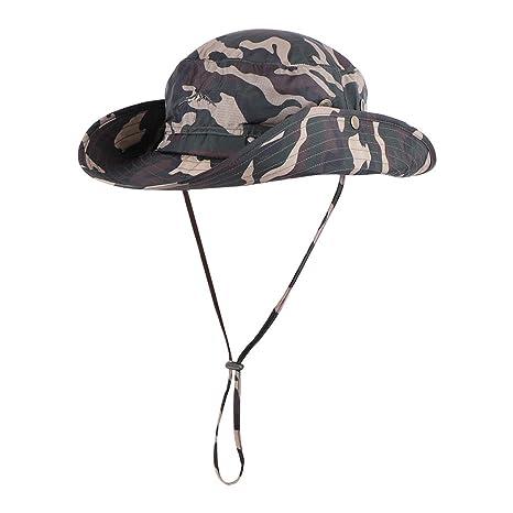 Anyoo Cappello da Pescatore per Esterni Ampio Estivo con Protezione UV Cappello  Mimetico Impermeabile da Pesca 199e0a0e34db