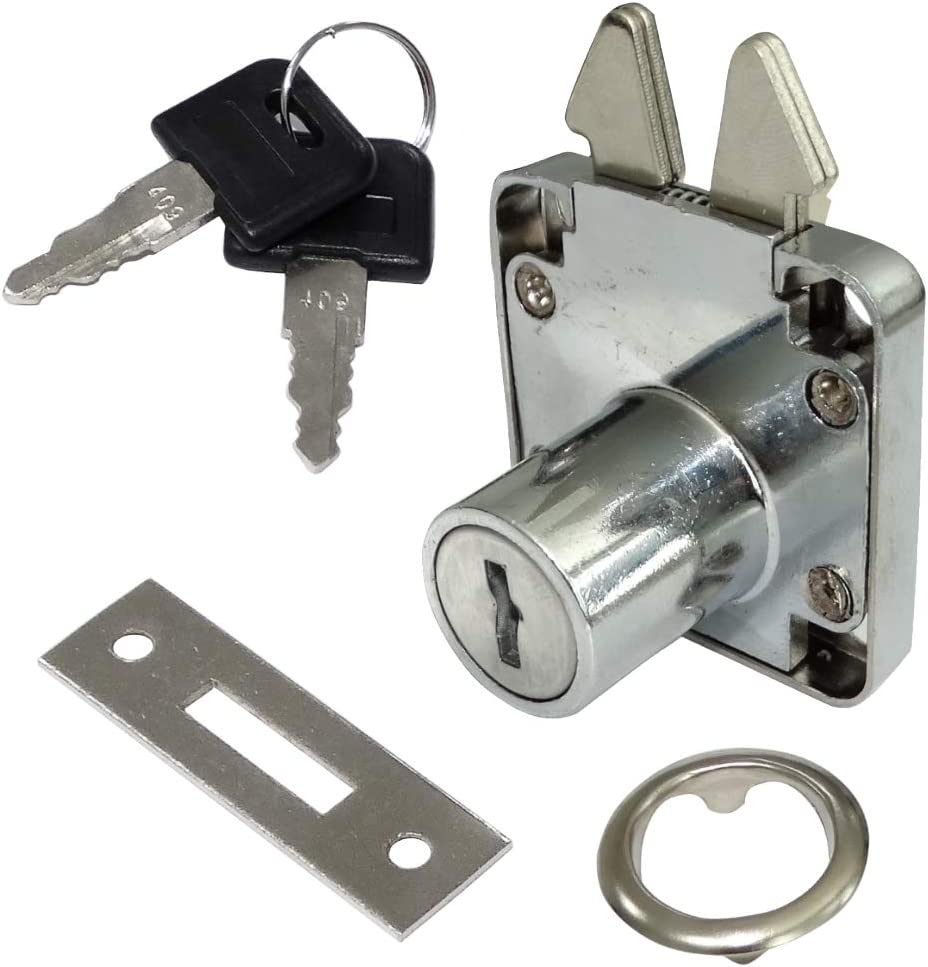 AERZETIX 4X Cerraduras y Llaves para Puerta corredera de Mueble 40//40mm C41401