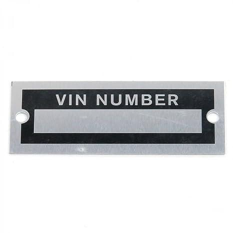 Vintage Parts 315273 VIN Number Plate