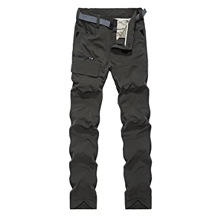 6126e9d93e Montbreaker Men s Outdoor Windproof Hiking Pants Thick Warm Cargo Pants  Army Green Size S