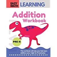Addition Workbook: Easy Math Learning  : 30 Days Challenge for 3-5 years and Pre-K   Preschool Workbook (addition easy math workbook for kids)