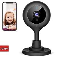 Victure 1080p monitoraggio bambini (baby monitor) con telecamera Wi-Fi IP Wireless senza filo. Telecamera di sicurezza con visione notturna e audio bidirezionale. Sorveglianza interna per cani, bambini e anziani.