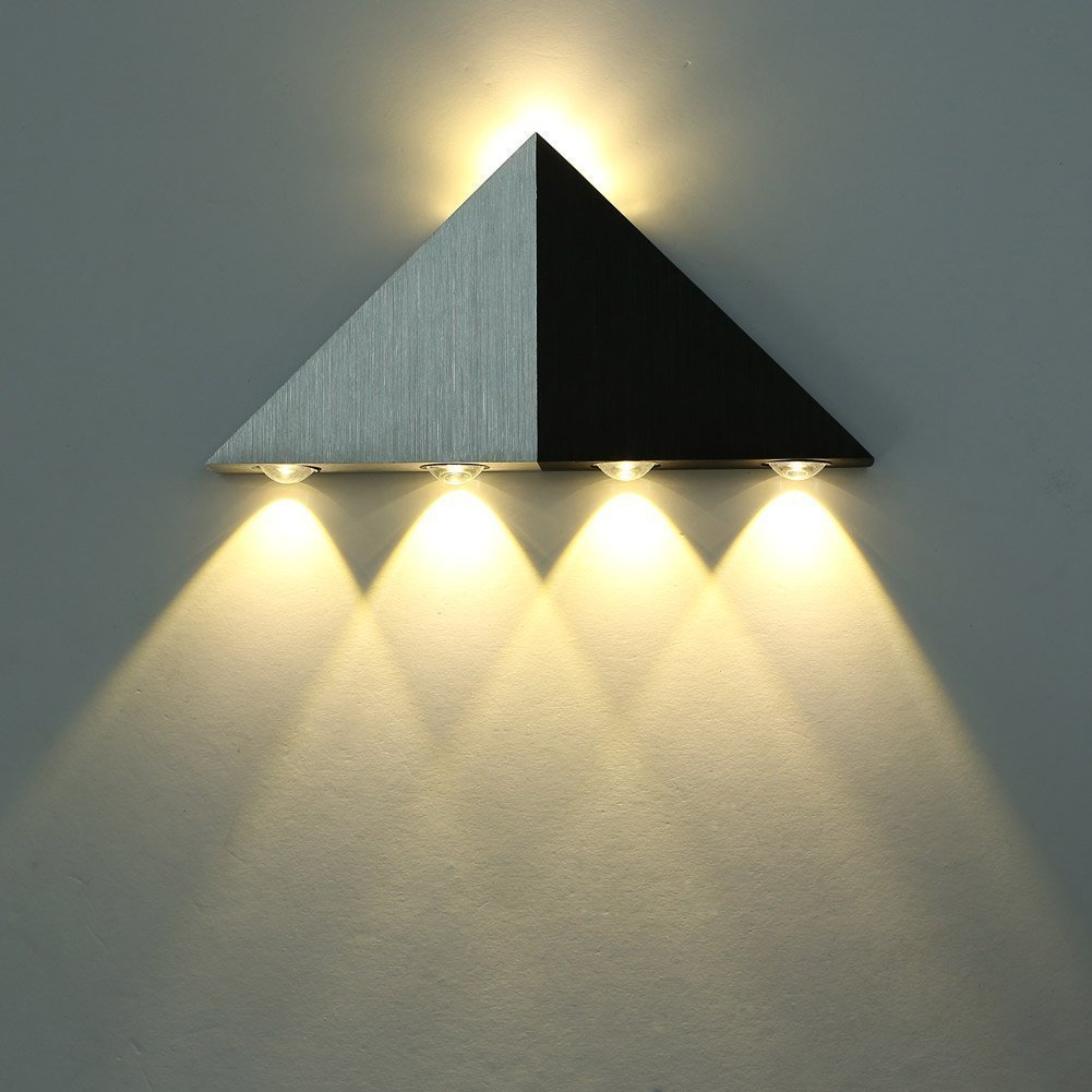 Lightess 5W Led Wall Sconce Lights Triangle Shape Decorative Lamp ...