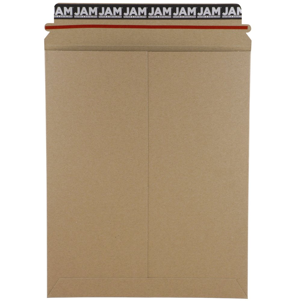 JAM Paper Recycled Photo Mailer Envelopes - 9 x 11 1/2 - Brown Kraft - 6/pack JAM Paper & Envelope