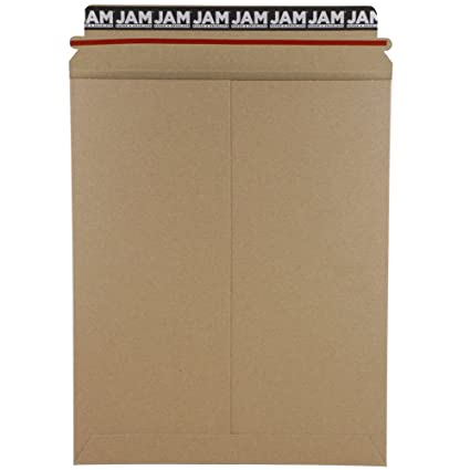 jam paper recycled photo mailer envelopes 9 3 4 x 12 1 4 brown