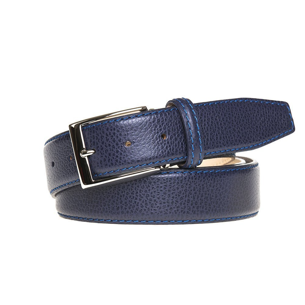 Blue Jean Italian Pebble Belt