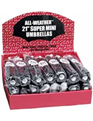 All-Weather GFUMLTBP 24 Piece Black Umbrellas Set