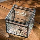 J Devlin Box 631 EB 217-2 Personalized Glass Keepsake Box Christian Cross Charm Baby Baptism Christening Gift Engraved Jewelry Box