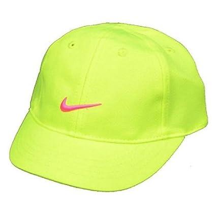 4d8d654d7c0 ... booties pink baby gift set 34a8e e116a shop nike baby girls swoosh  baseball hat 12 24 months adjustable volt pink 711c0 36ca4 ...