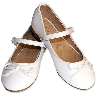 Weiße Ballerinas für Mädchen yteoOu