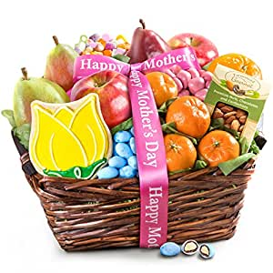 Golden State Fruit Mothers Day Fruit & Treats Gift Basket