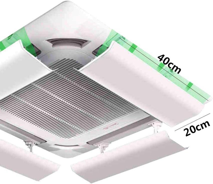 Wind Greating Deflector de Aire Acondicionado para Aire Acondicionado Central de Techo Pl/ástico Liviano /áNgulo Ajustable F/ácil Instalaci/ón Evita Que el Aire Fr/ío Sople Recto Una Pieza 40cm