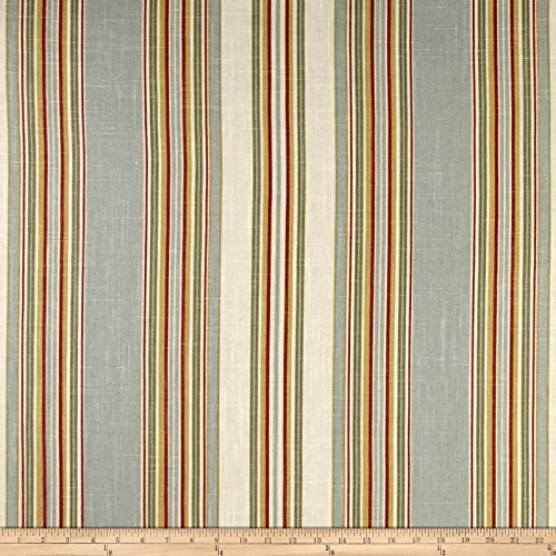 Waverly Stripe Ensemble Robins Egg Blue Fabric By The Yard