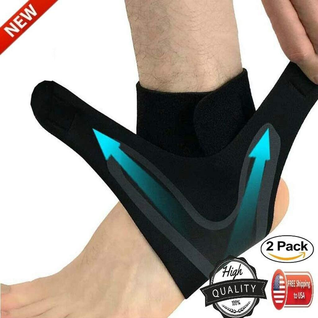 M one Pair Protects Against Chronic Ankle Strain Perfect for Sports Sprains Fatigue Ankle Brace Support,Adjustable Ankle Support Breathable SBR Material Super Elastic and Comfortable