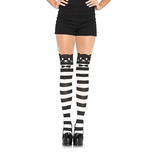 6daa919b16f Amazon.com  7935 Striped Cat Pantyhose  Clothing