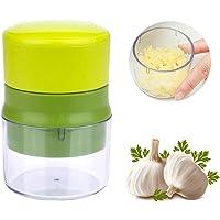 YOUYIKE Prensa Ajos, Garlic Press Mincer - Prensa de ajos, Apta para lavavajillas, con Recipiente de Almacenamiento…