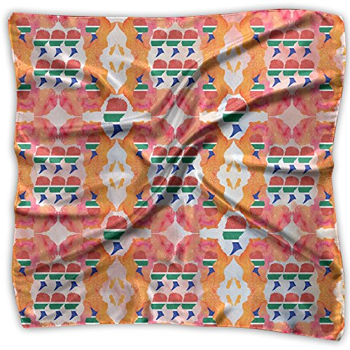 African Flag Women Africa Map Watercolor Women's Floral Printed Square Scarfs Cozy HeadKerchiefs Neckcheif Neck Scarves by Haythuerme