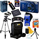 Canon PowerShot ELPH 190 IS Wi-Fi Digital Camera with 10x Zoom & HD video, Blue (International Version) + Battery & AC/DC Charger + 10pc 32GB Deluxe Accessory Kit w/HeroFiber Cloth