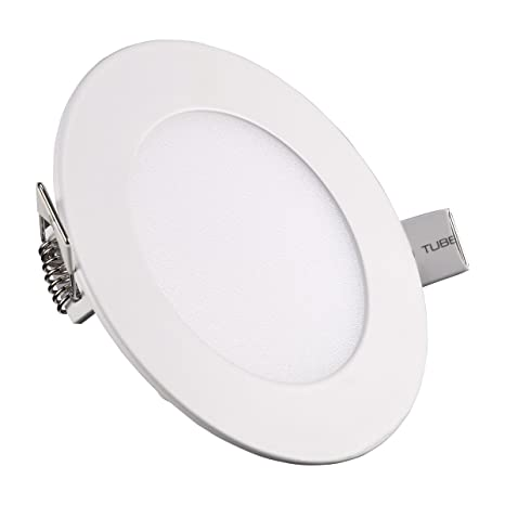 led recessed ceiling lights. Round LED Panel Light, S\u0026G Flat Non-Dimmable Ultra-thin Recessed Led Ceiling Lights