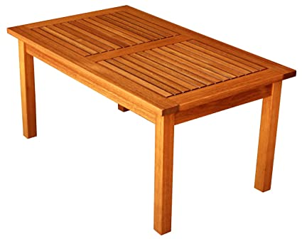 Marvelous Luunguyen Outdoor Hardwood Coffee Table Natural Wood Finish Machost Co Dining Chair Design Ideas Machostcouk